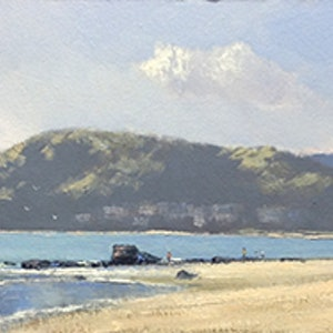 Denhams beach john rice bluethumb art 836a