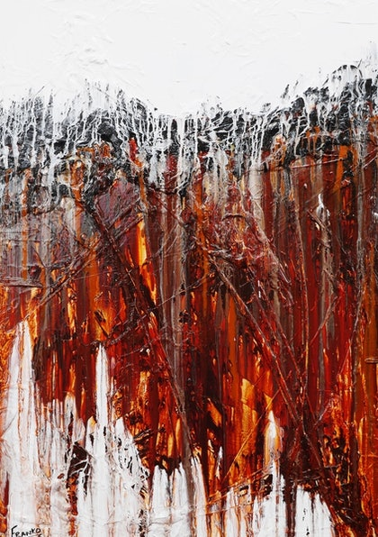 Rust and Lust  140cm x 100cm full texture gloss finish