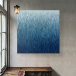 The second silent rain 100cm square acrylic on canvas george hall bluethumb art f4b4