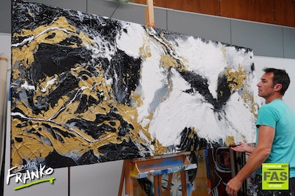 Golden Veins 240cm x 100cm  #Huge and Gorgus!
