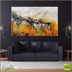 Sienna black 160cm x 100cm large abstract heavily textured copy   franko  bluethumb art 601d