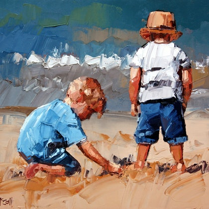 Sand Play Petite V - Limited Edition Giclee Art Print  Ed. 12 of 100