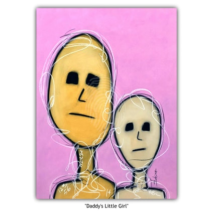 """""""Daddy's Little Girl"""" (abstract portraiture)"""