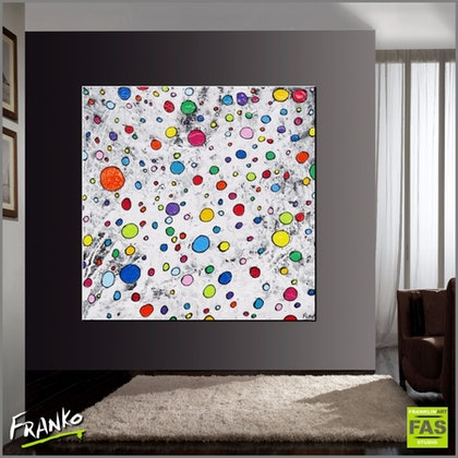 Fruitloops 150cm x 150cm #Large Abstract heavily textured