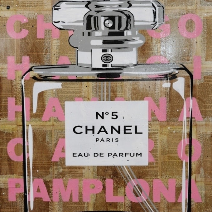 Chanel cc 75cm x 100cm on a vintage 1939 copy of gone with the wind no further framing needed copy   franko  bluethumb art 3cd3