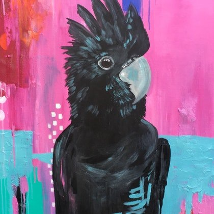 The Black Cockatoo in Abstract