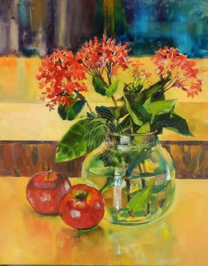 Ixora and apples
