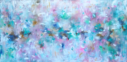 """""""Sweet Kisses"""" - Large painting comes with certificate of authenticity"""