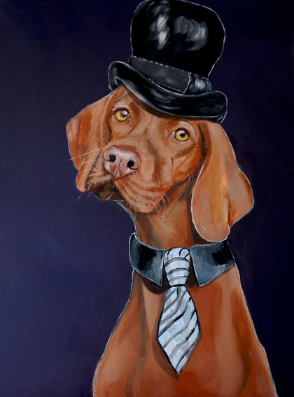 Dapper in Top Hat & Tie