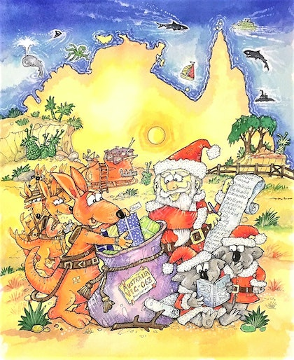 'Down-Under, The Australian Twelve Days of Christmas'  Front cover