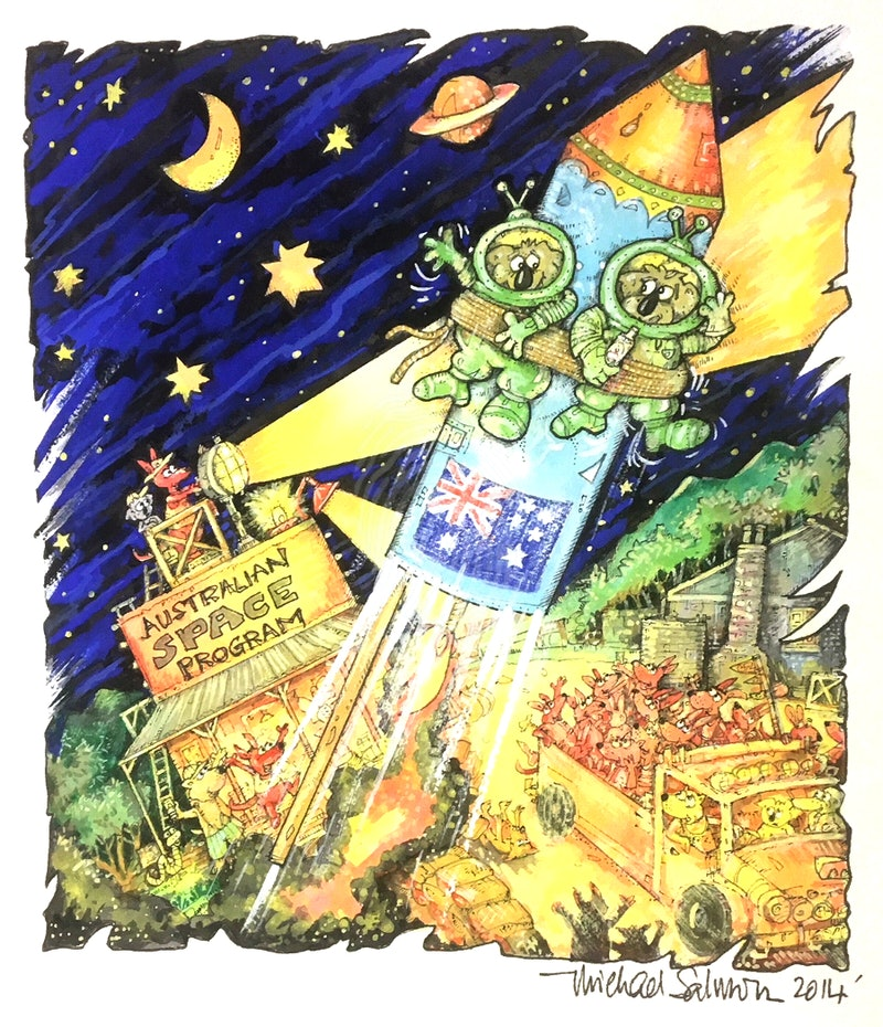 'Advance Australia Fair'  (Australian Space Program)