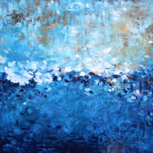 Untethered large oil painting ready to hang belinda nadwie bluethumb art 42f6