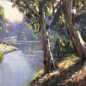 Morning on the macquarie john rice bluethumb art acd7