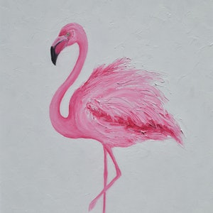 Pink flamingo framed jan matson bluethumb art 3af3