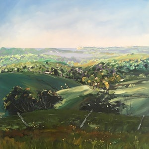 Byron hinterland misty morning meredith howse bluethumb art 241e