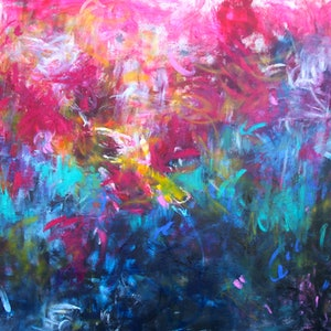 Eternally yours large painting comes with certificate belinda nadwie bluethumb art 880e