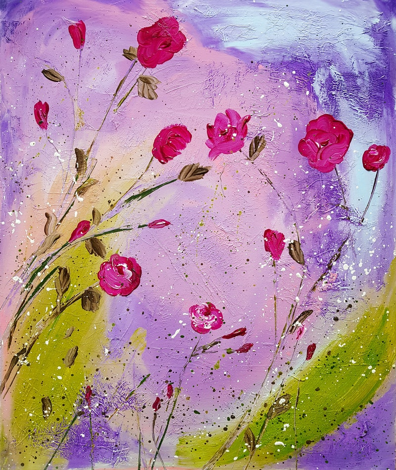 Spring flower blossoms x 2 by deborah christensen paintings for medium mightylinksfo Images