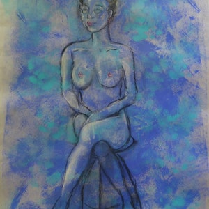 (CreativeWork) Josephine by Anne-Marie Jones. drawing. Shop online at Bluethumb.