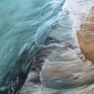 (CreativeWork) Tidal Shelf by Kadira Jennings. oil-painting. Shop online at Bluethumb.
