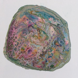 (CreativeWork) Abalone  by Paddy Colahan. arcylic-painting. Shop online at Bluethumb.