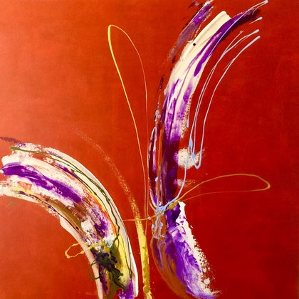 (CreativeWork) Vitality 3 by Peter Reddy. arcylic-painting. Shop online at Bluethumb.