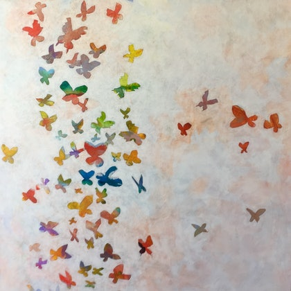 (CreativeWork) Break Free 1 by Peter Reddy. arcylic-painting. Shop online at Bluethumb.