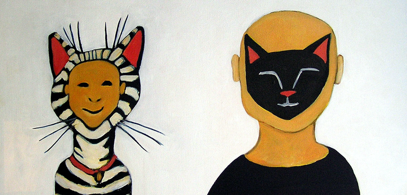 (CreativeWork) Gus and Max by Dale Leach. arcylic-painting. Shop online at Bluethumb.