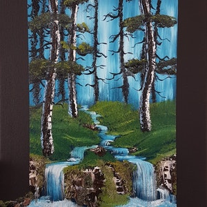 (CreativeWork) Falls in the forest by Jasper Wijnands. oil-painting. Shop online at Bluethumb.