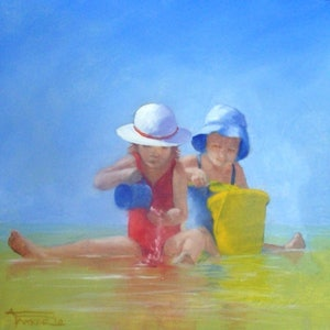 (CreativeWork) Water Babies by Ann  J Parker. arcylic-painting. Shop online at Bluethumb.