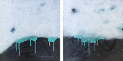 (CreativeWork) Make a Memory (diptych) by Sioux Tempestt. arcylic-painting. Shop online at Bluethumb.