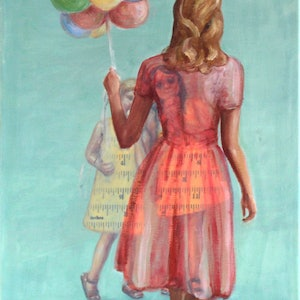(CreativeWork) Carnival by Leah Mariani. oil-painting. Shop online at Bluethumb.