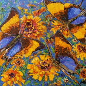"""(CreativeWork) """"Natures Camouflage"""" by Daniela Selir. oil-painting. Shop online at Bluethumb."""