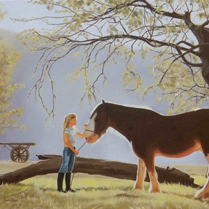 (CreativeWork) Friends by Lance Ross. oil-painting. Shop online at Bluethumb.