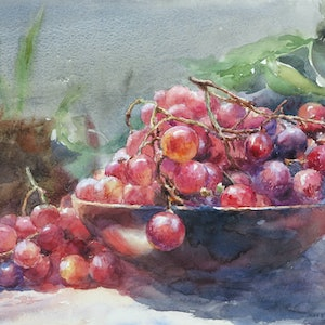 (CreativeWork) Freshness by Richard(Tiejun) Chao. watercolour. Shop online at Bluethumb.