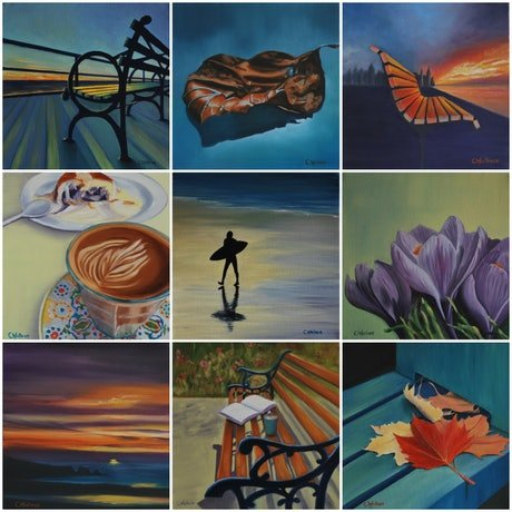 (CreativeWork) A Moments Respite by Catherine Wallace. Oil Paint. Shop online at Bluethumb.