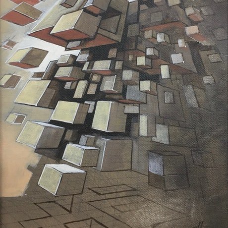 (CreativeWork) Acrylic Study 5 (The Architect) by Ross Morgan. Acrylic Paint. Shop online at Bluethumb.