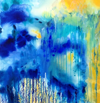 (CreativeWork) The Gift From Above by Leah Doeland. Acrylic Paint. Shop online at Bluethumb.