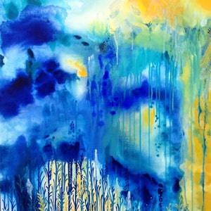 (CreativeWork) The Gift From Above by Leah Doeland. arcylic-painting. Shop online at Bluethumb.