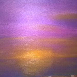 (CreativeWork) warm sunset glow by Daniel Dickens. oil-painting. Shop online at Bluethumb.