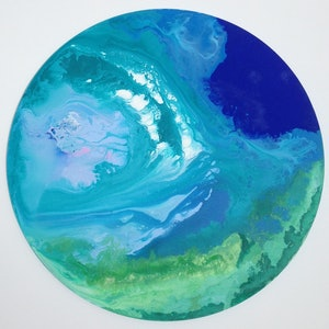 (CreativeWork) Indian Ocean by Olena Bloomfield. arcylic-painting. Shop online at Bluethumb.