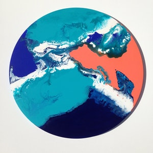 (CreativeWork) Continental Drift by Olena Bloomfield. arcylic-painting. Shop online at Bluethumb.