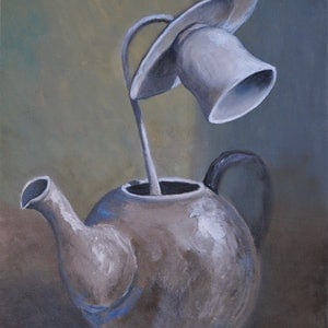 (CreativeWork) A Still Life by Tank .. oil-painting. Shop online at Bluethumb.