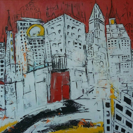 (CreativeWork) The Red Door by dMilo .. Mixed Media. Shop online at Bluethumb.