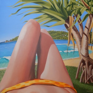 (CreativeWork) Byron Bay. NSW. by Tony Beckley. arcylic-painting. Shop online at Bluethumb.