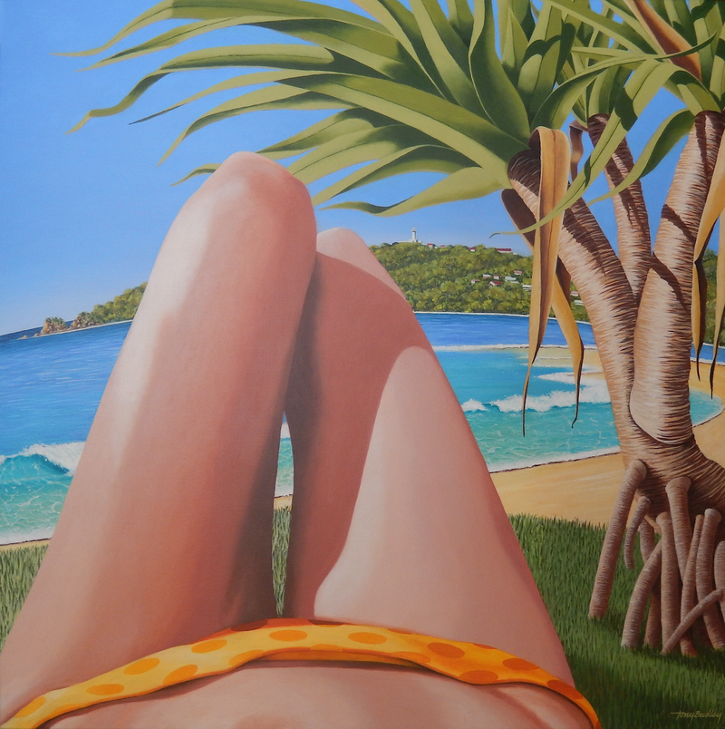 (CreativeWork) Byron Bay. NSW. by Tony Beckley. Acrylic Paint. Shop online at Bluethumb.