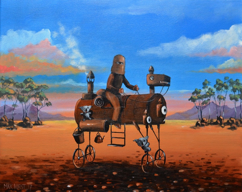 Ned Kelly On Steam Horse By Max Horst Sokolowski