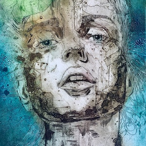 (CreativeWork) Fleeting Moment - 5 by Jet James. mixed-media. Shop online at Bluethumb.