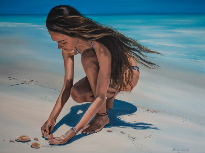 (CreativeWork) Voice of the Sea by Mia Laing. oil-painting. Shop online at Bluethumb.