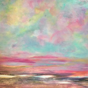 (CreativeWork) Painted Desert  by helene hardy. arcylic-painting. Shop online at Bluethumb.