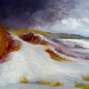 (CreativeWork) Dunes by Janine Koefoed. oil-painting. Shop online at Bluethumb.